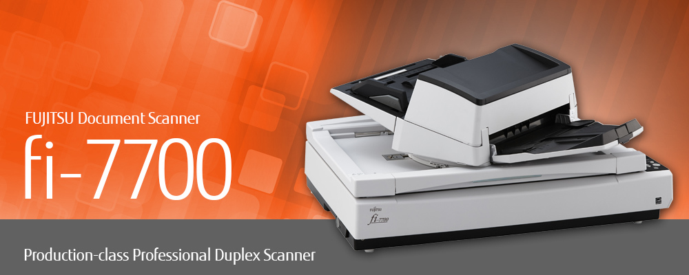 "Image of FUJITSU Document Scanner fi-7700: ""Production-class Professional Duplex Scanner"""