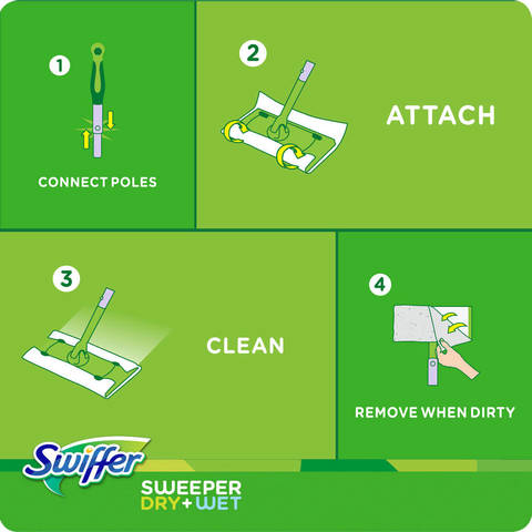 Swiffer 174 Sweeper Floor Mop Starter Kit Target