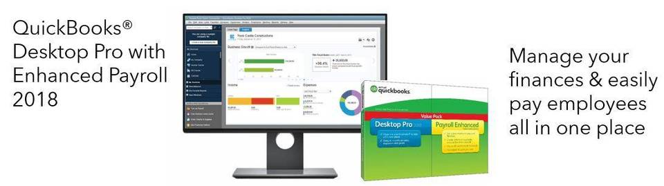 Quickbooks desktop pro with enhanced payroll 2018 traditional disc product view press enter to zoom in and out fandeluxe Image collections