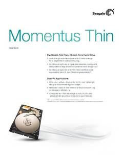 View Momentus Thin Data Sheet PDF
