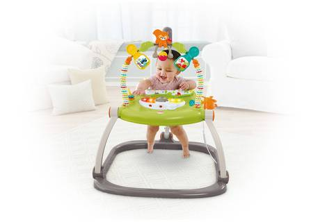 ab9458a49301 Fisher-Price Woodland Friends SpaceSaver Jumperoo - Walmart.com