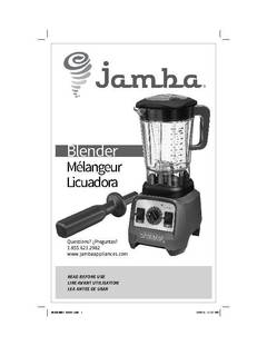 Jamba 2 4 hp Professional Variable Speed Blender w 64 oz Jar Grey 58910