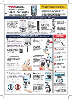 Cvs Health Advanced Blood Glucose Meter Cvs Com