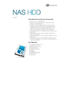 View NAS HDD Data Sheet PDF