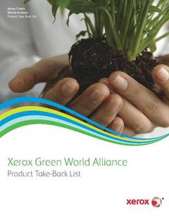 Xerox Green World Alliance Product Take-Back List - opens PDF