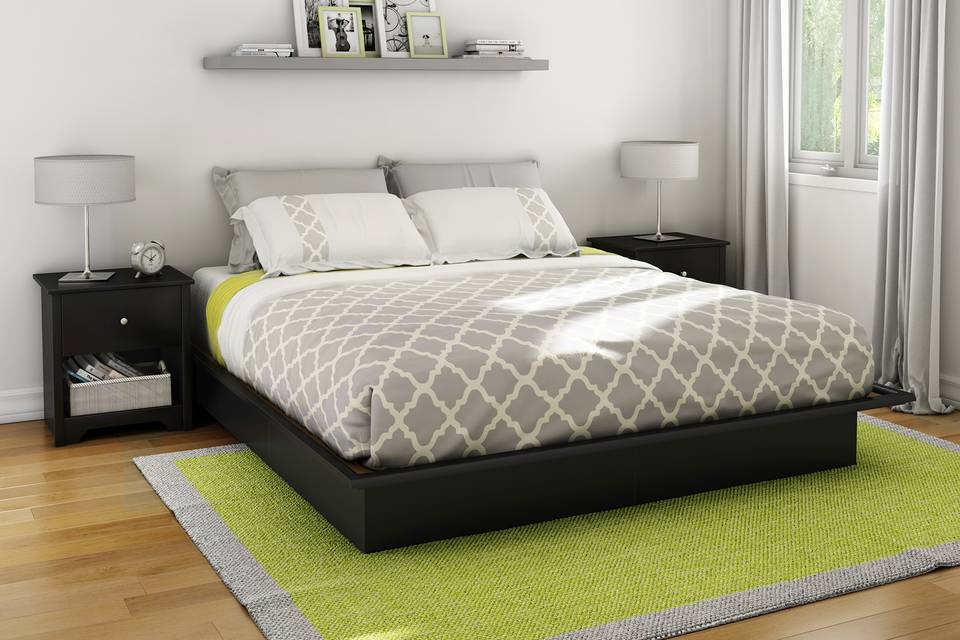 south shore soho king platform bed with molding