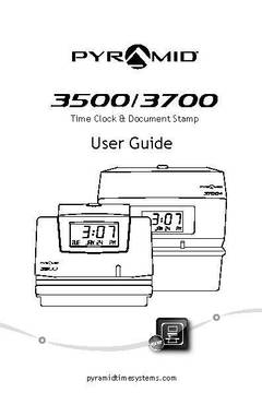 View Pyramid 3500 Time Clock Manual PDF
