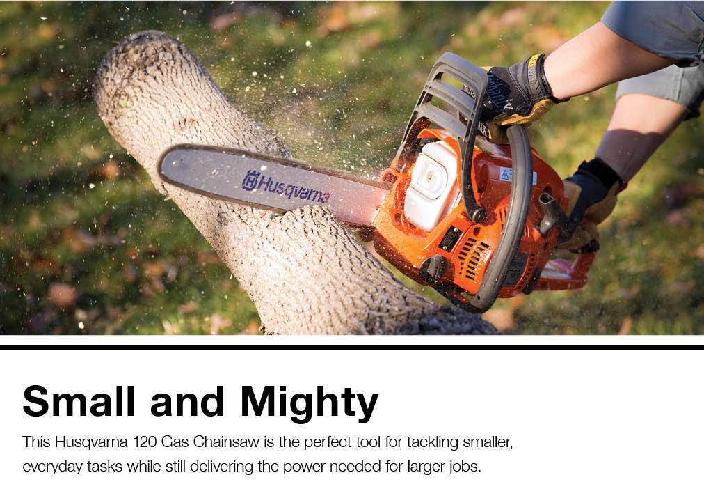 Husqvarna 120 14-in 38 2-cc 2-Cycle Gas Chainsaw at Lowes com
