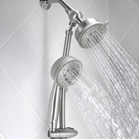 Perfect A Fixed Spray Head With A 4 Inch Diameter And A Hand Shower With A 4 Inch  Spray Head Offer Exceptional Coverage For A Relaxing Shower Experience.