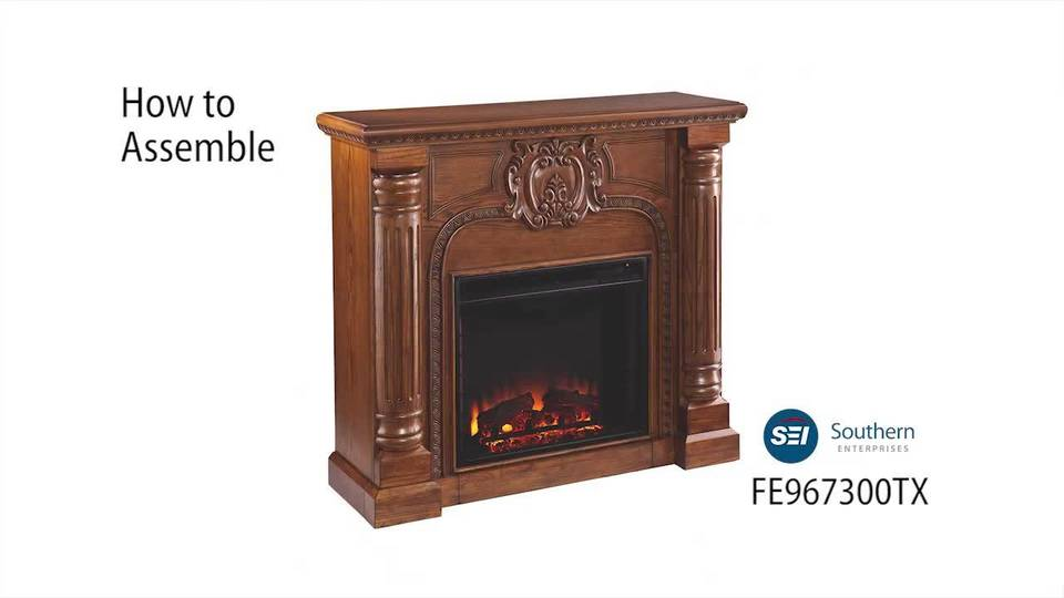 Serrah Electric Fireplace, Salem Antique Oak - Walmart.com