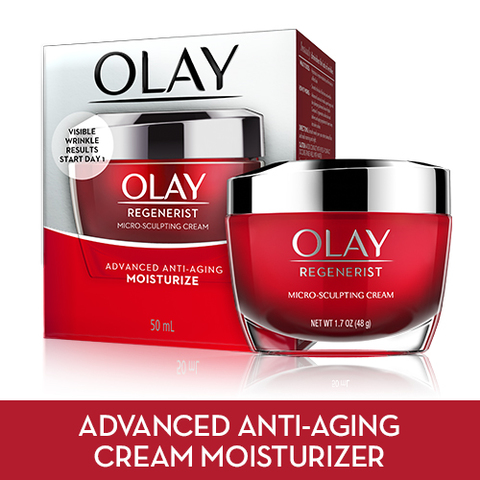 0dbae4be9c9 ADVANCED ANTI-AGING FORMULA. Olay Regenerist Micro-Sculpting Cream ...