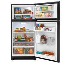 Frigidaire Gallery Top-Mount Refrigerator: FGTR1842TD, Door open, Loaded