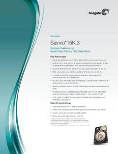 View Savvio 15K.3 Data Sheet PDF