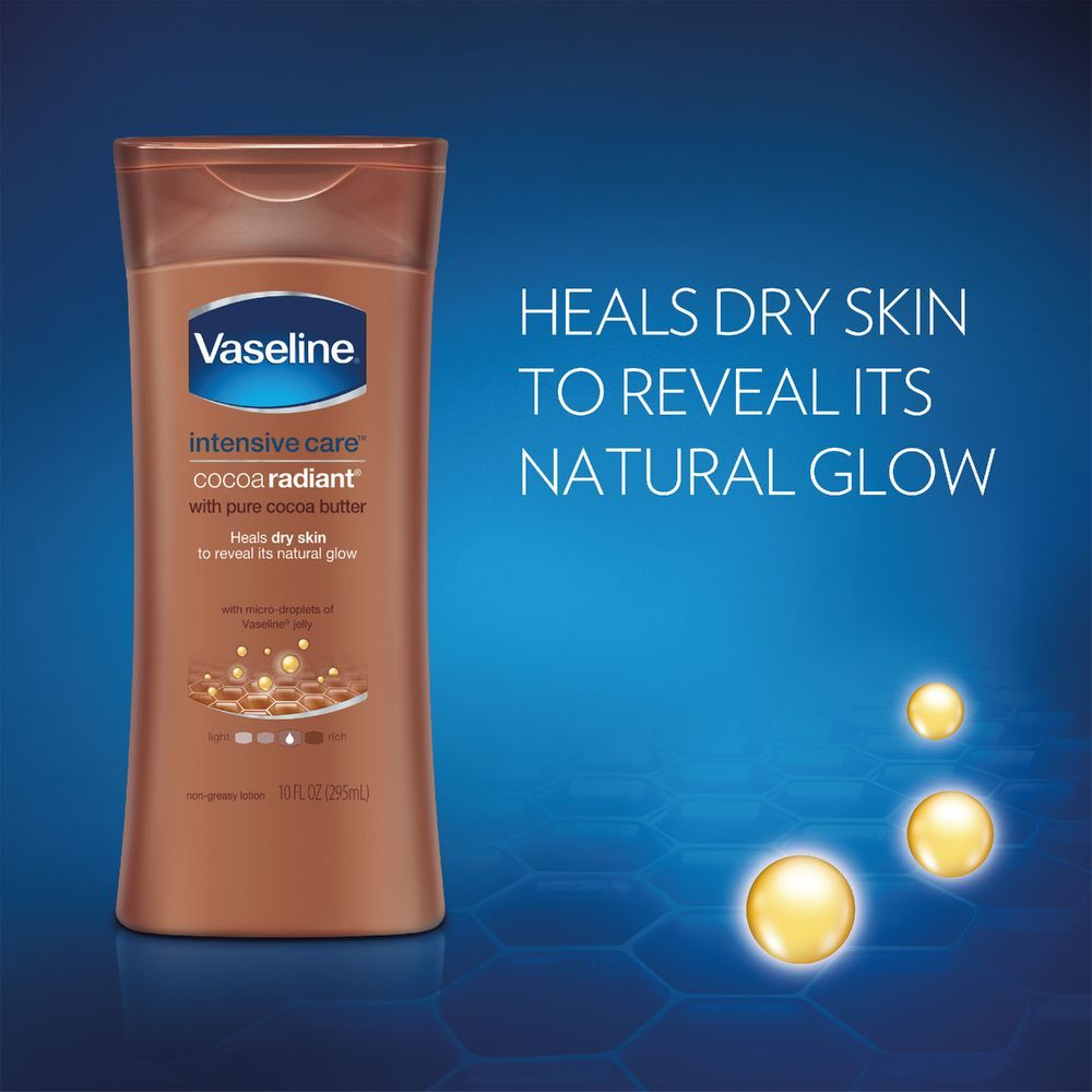 Vaseline Intensive Care Cocoa Radiant Body Lotion Holly Hand Ampamp 600 Ml Smooth Hydrated Skin