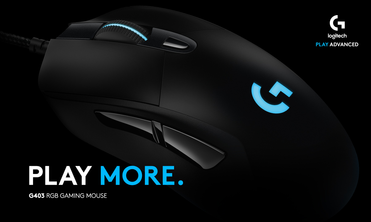PLAY MORE. G403 RGB GAMING MOUSE