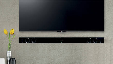 Wall Mount Included - LG 320W 2.1ch Sound Bar Audio System With Wireless Subwoofer And