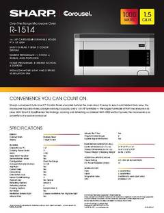 View R-1514 Spec Sheet PDF