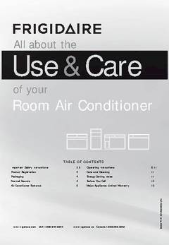 frigidaire 8000 btu air conditioner manual