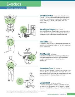 View Exercises to Promote Ergonomic Comfort PDF