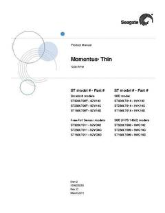 View Momentus Thin (.2-4K) SATA Product Manual PDF