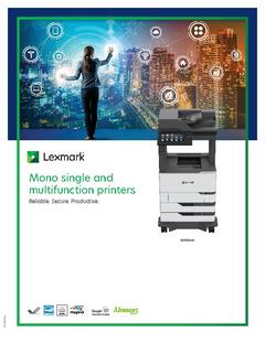View Lexmark Mono single and multifunction printers PDF