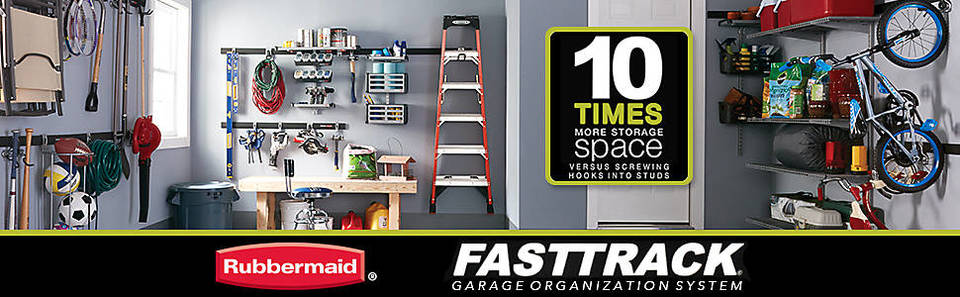 Shop Rubbermaid Fasttrack Garage 1 Piece Satin Nickel Steel Ball