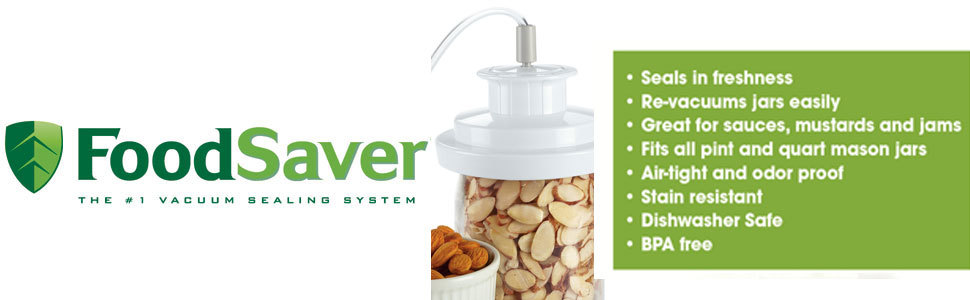 The Jar Sealer Works With Any Foodsaver Vacuum Sealing System Machine Not Included Simply Connect One End Of To S Accessory