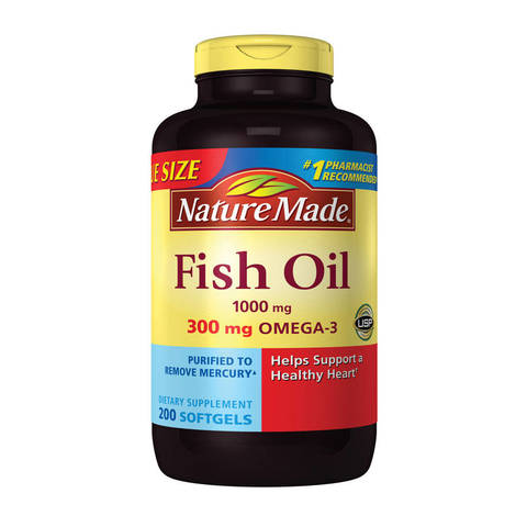 Nature made fish oil 1000mg 300mg omega 3 liquid for Nature made fish oil