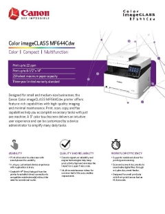 View MF644Cdw Product Brochure PDF
