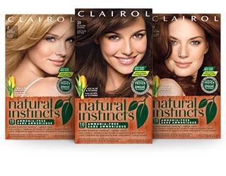 Clairol Natural Instincts Hair Color, 22 Medium Auburn Brown, 1 Kit ...
