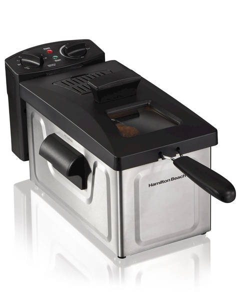 This Hamilton Beach Deep Fryer Features An Immersed Heating Element For  Even Oil Heating, Plus A 30 Minute Timer And Automatic Shutoff.