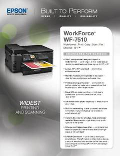 WorkForce WF-7510 Product Specifications - opens PDF