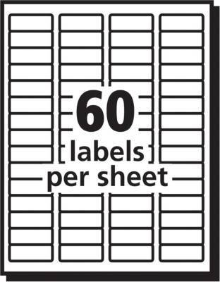 Avery 23 X 1 34 Laser Easy Peel Address Labels White 1500 Pk