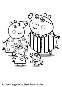 View Peppa Pigs Family Colouring Sheet PDF