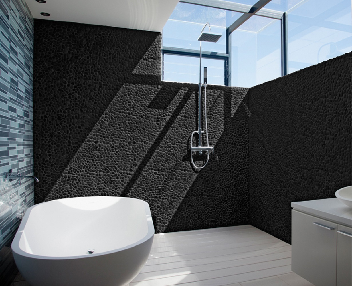 River Rock Black 12-in x 12-in Pebble Mosaic Tile (Common: 12-in x on pebble mosaic tile bathroom, marble bathroom designs, pebble flooring for bathroom, bathroom bathroom designs, pebble tile flooring, home bathroom designs, pebble rock bathroom ideas, pebble tile backsplash, pebble tile art, pebble tile bath, pebble tile bathroom remodeling ideas, pebble tile fireplaces, stone bathroom designs, pebble tile kitchen, stainless steel bathroom designs, slate bathroom designs, pebble mosaic medallion tile, pebble bathroom floor tile, pebble tile wallpaper, pebble tile shower,