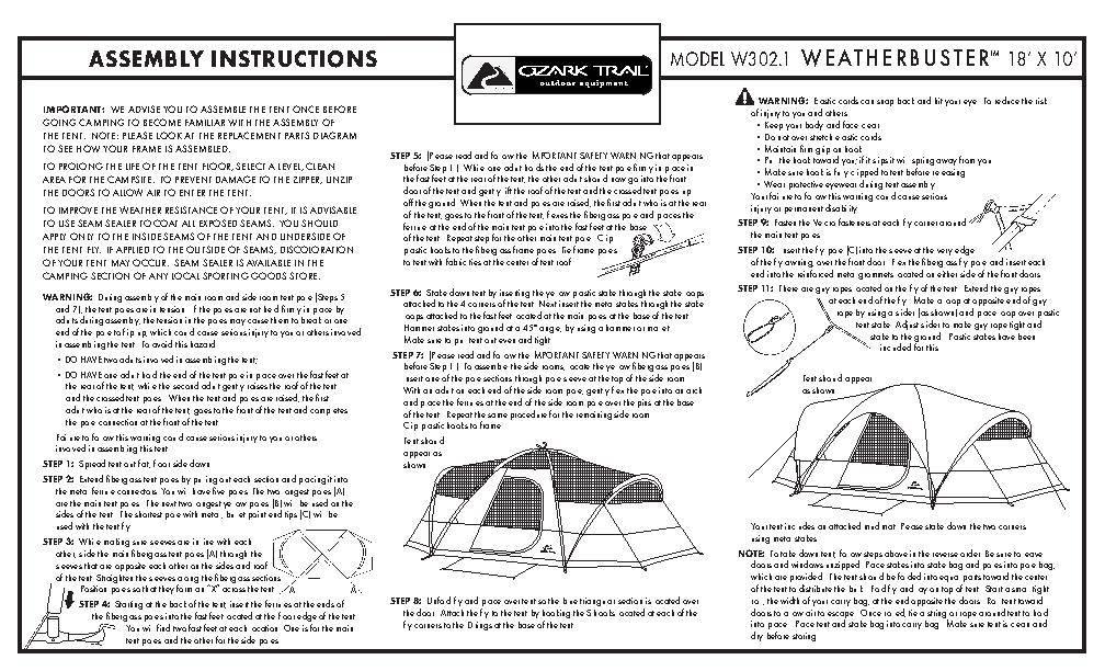 Greatland Outdoors 3 Room Tent Manual