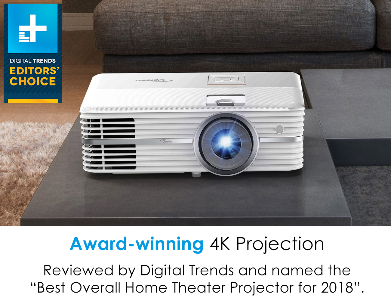 Optoma UHD50 DLP 4K UHD Home Theater Projector - Newegg com