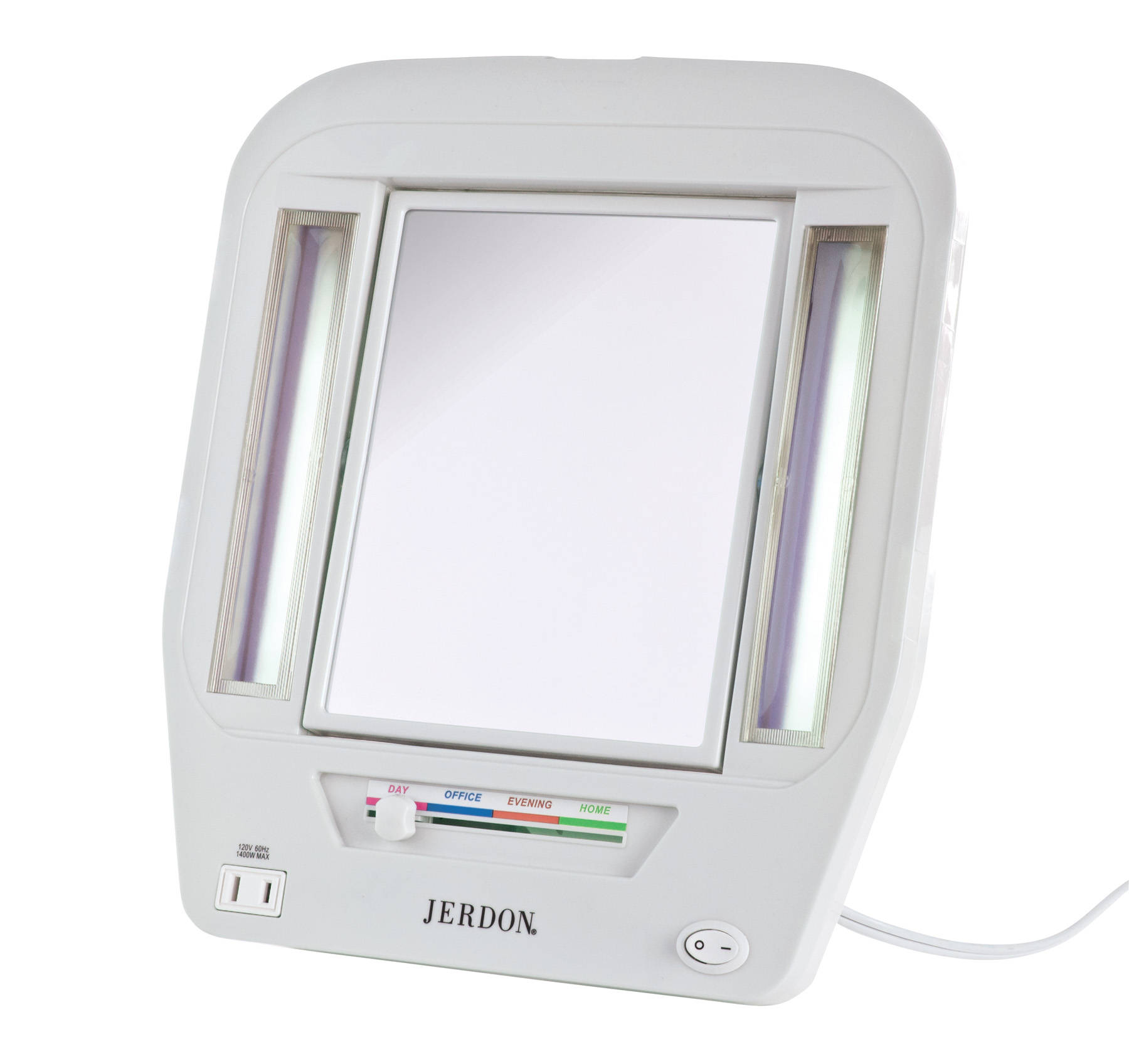Jerdon 6 Quot Portable Tabletop 2 Sided Swivel Lighted Makeup
