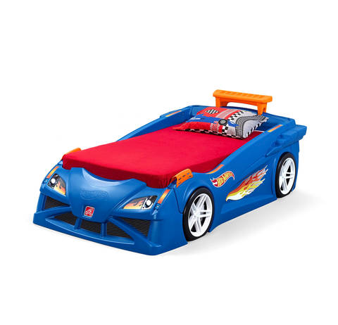 Step2 Hot Wheels Toddler To Twin Race Car Bed Bjs Wholesale Club