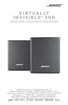 bose virtually invisible 300 stands. owner\u0027s guide bose virtually invisible 300 stands