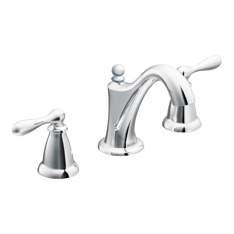 Shop Moen Caldwell Chrome 2-Handle Widespread WaterSense Bathroom ...