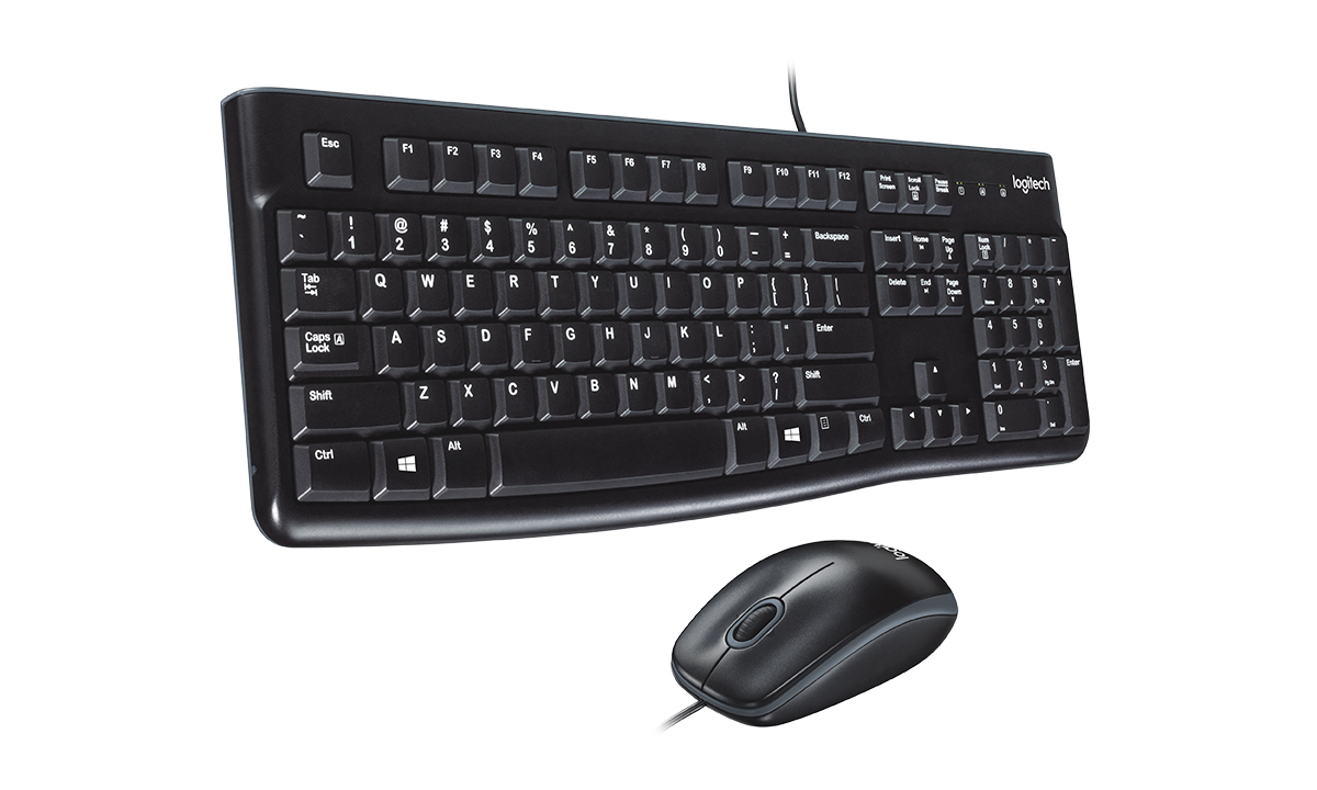 Logitech MK120 USB Wired Keyboard/Mouse Set
