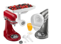kitchenaid mixer attachments slicer. kitchenaid® spiralizer with peel, core and slice, food grinder attachment, fresh prep slicer/shredder attachment kitchenaid mixer attachments slicer t