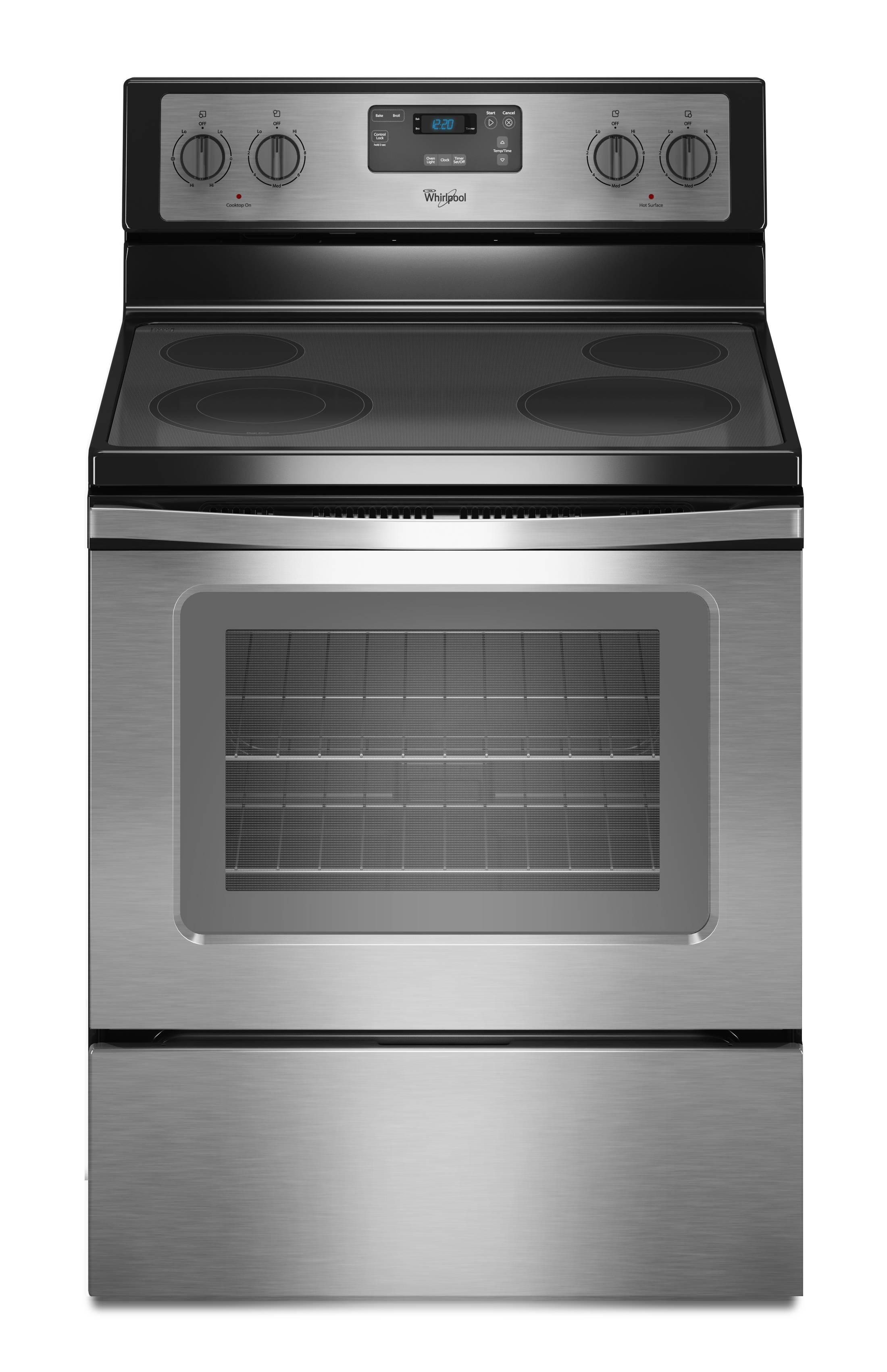 white electric range. Whirlpool Smooth Surface 4.8-cu Ft Freestanding Electric Range  (Black-on-stainless White Electric Range