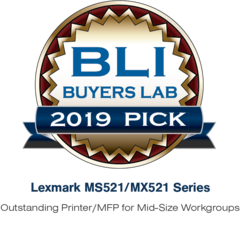 2019 Pick Award Outstanding Printer/MFP for Mid-Size Workgroups
