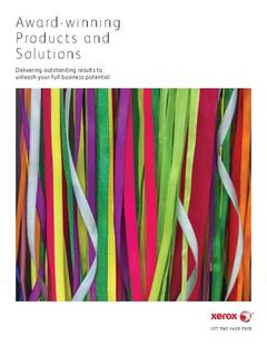 View Award-winning Products and Solutions PDF