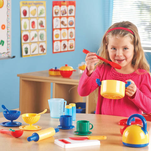 Learning Resources Pretend And Play Kitchen Set Toptradestore Com