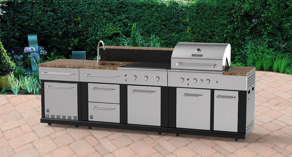 Master Forge Modular Outdoor Kitchen 3 Burner Modular Gas Grill At
