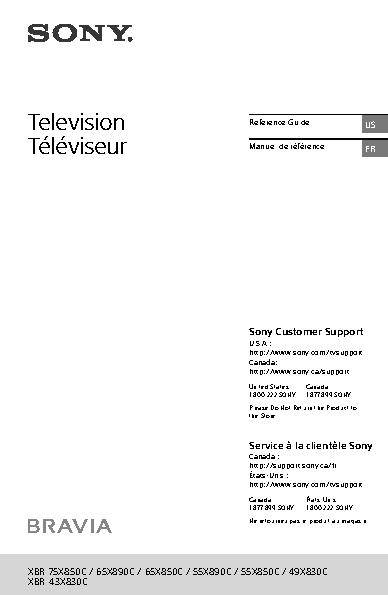 sony 4k tv manual pdf