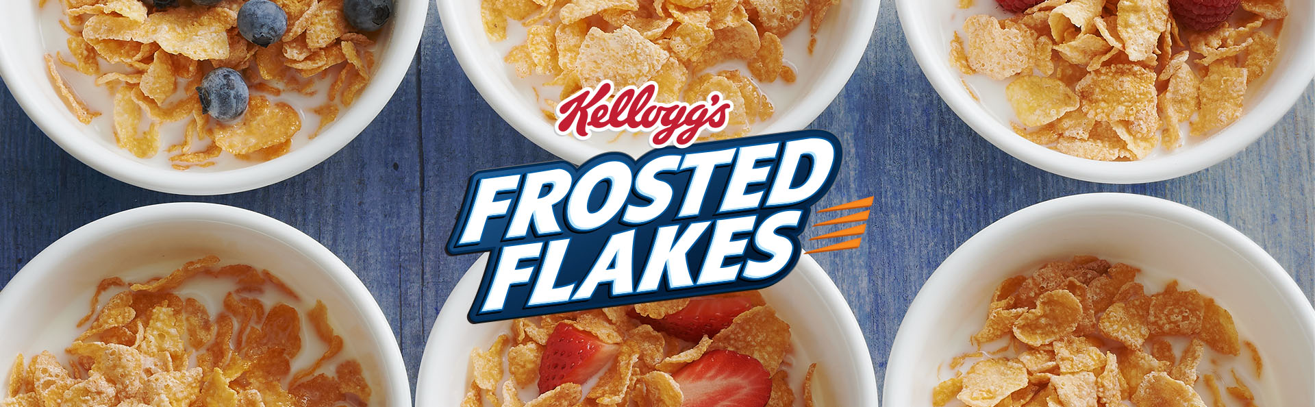 Enjoy a delicious bowl of Kelloggs Frosted Flakes breakfast cereal with your favorite milk